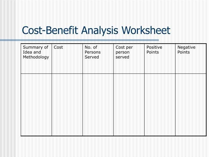 "Cost Benefit Analysis Worksheet Fresh Ppt the ""how to"" Grants Manual Powerpoint Presentation"