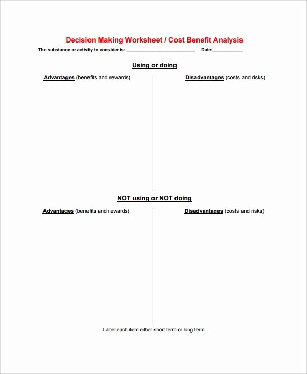 Cost Benefit Analysis Worksheet New 10 Sample Cost Benefit Analysis Templates Pdf Word Excel