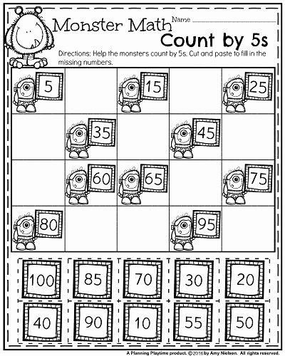Count by 5s Worksheet Best Of October First Grade Worksheets