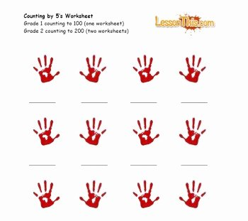 Count by 5s Worksheet Elegant Handprint Counting by 5's – Lesson This