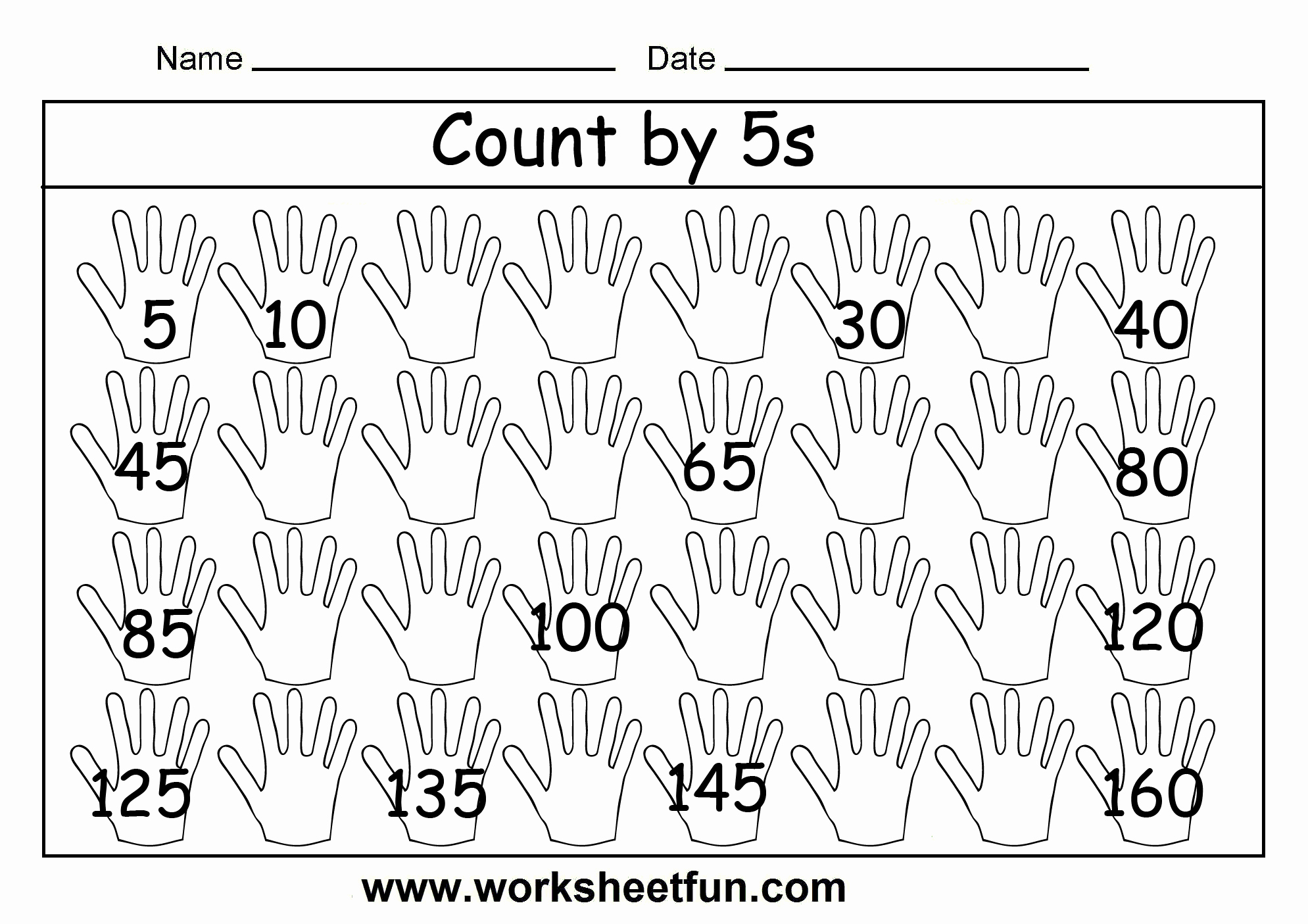 Count by 5s Worksheet Fresh New 774 Free Worksheets Counting by 2 S 5 S and 10 S