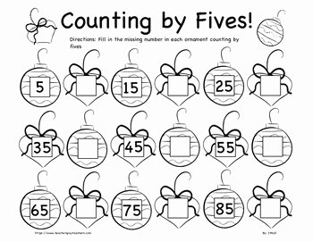 Count by 5s Worksheet New Christmas Counting by Fives and Tens Worksheet Bundle K