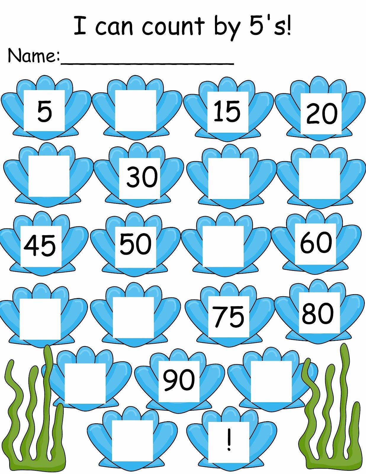 Count by 5s Worksheet Unique Count by 5s Worksheets Printable