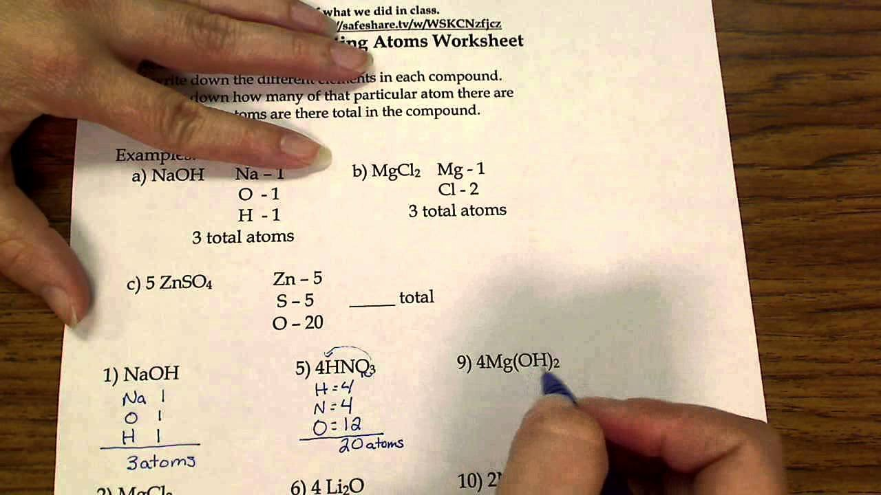 Counting atoms Worksheet Answer Key Awesome Counting atoms