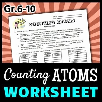 Counting atoms Worksheet Answer Key Beautiful Counting atoms Worksheet Editable