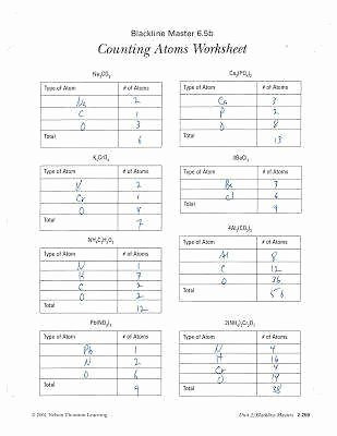 Counting atoms Worksheet Answer Key Inspirational Counting atoms Worksheet Answers