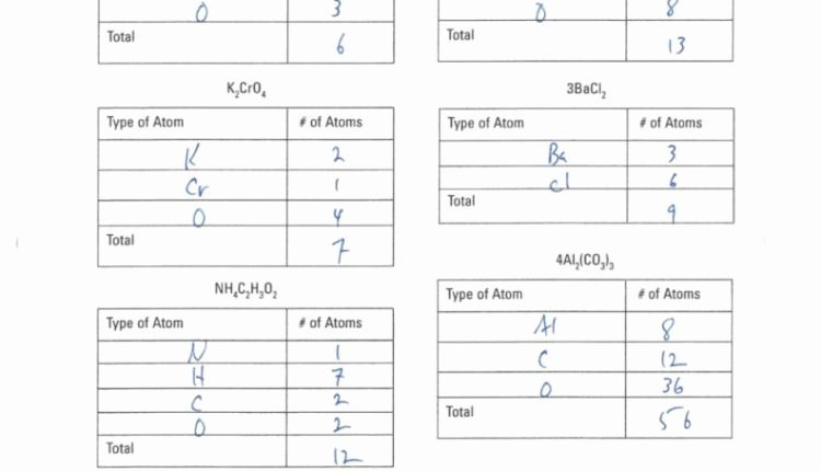 Counting atoms Worksheet Answer Key Lovely Downloadable Template Of Counting atoms Worksheet Answer