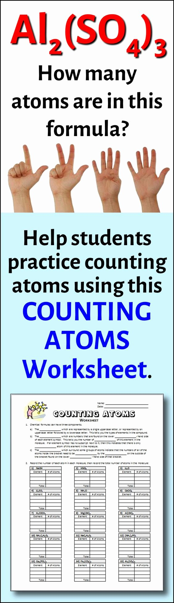 Counting atoms Worksheet Answer Key Luxury Counting atoms Worksheet Editable