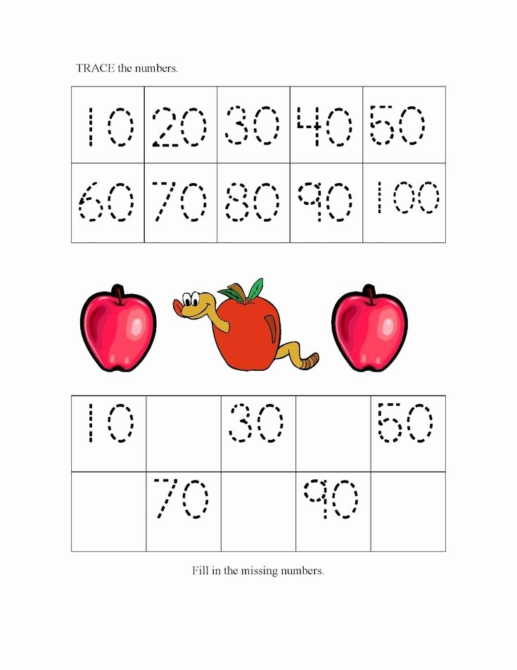 Counting by 10s Worksheet Awesome Count by 10s Tracing Worksheets Activity Shelter