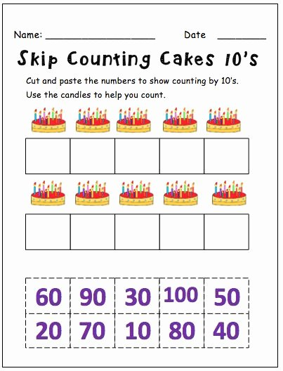 Counting by 10s Worksheet Elegant Skip Counting by 10′s This Resource Contains 5