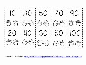Counting by 10s Worksheet Inspirational Counting by 10s Cut and Glue Number Line Freebie by A