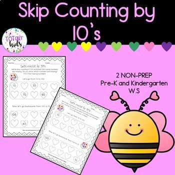Counting by 10s Worksheet Lovely Valentines Counting by 10 S Worksheet by totallykids