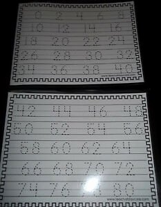 Counting by 2's Worksheet Awesome Skip Counting by 2 S Trace the Number Laminated Dry Erase