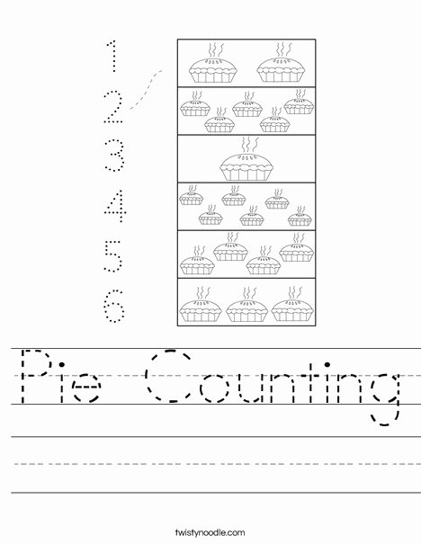 Counting by 2's Worksheet Fresh Pie Counting Worksheet Twisty Noodle