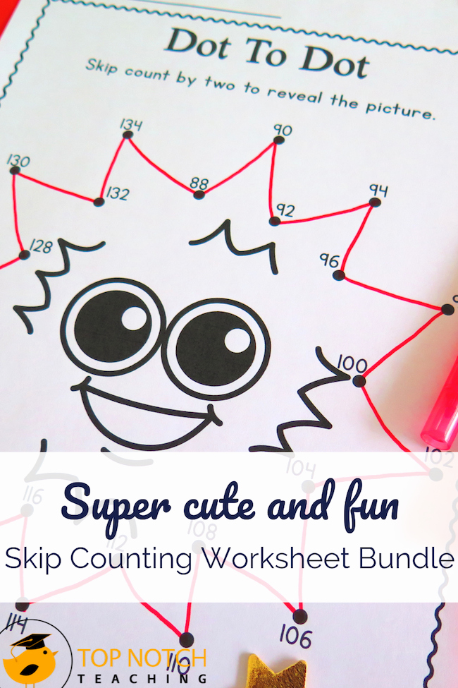 Counting by 2's Worksheet Unique Skip Counting Activities and Worksheets Bundle top Notch