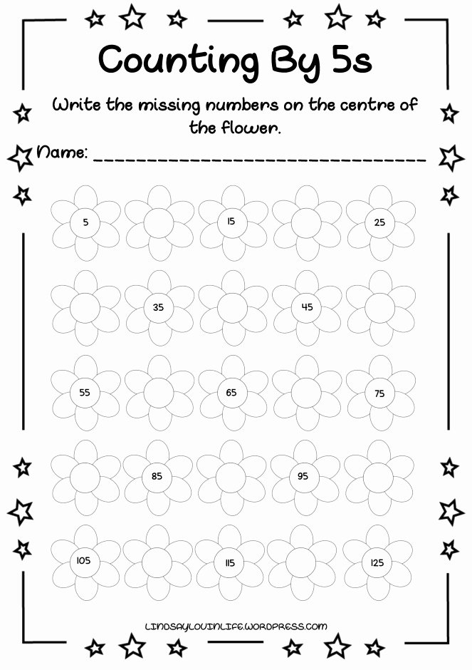 Counting by 5s Worksheet Awesome Free Printable Count by 5s Worksheet