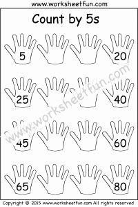Counting by 5s Worksheet Beautiful Count by 5s – 5 Worksheets Skip Counting