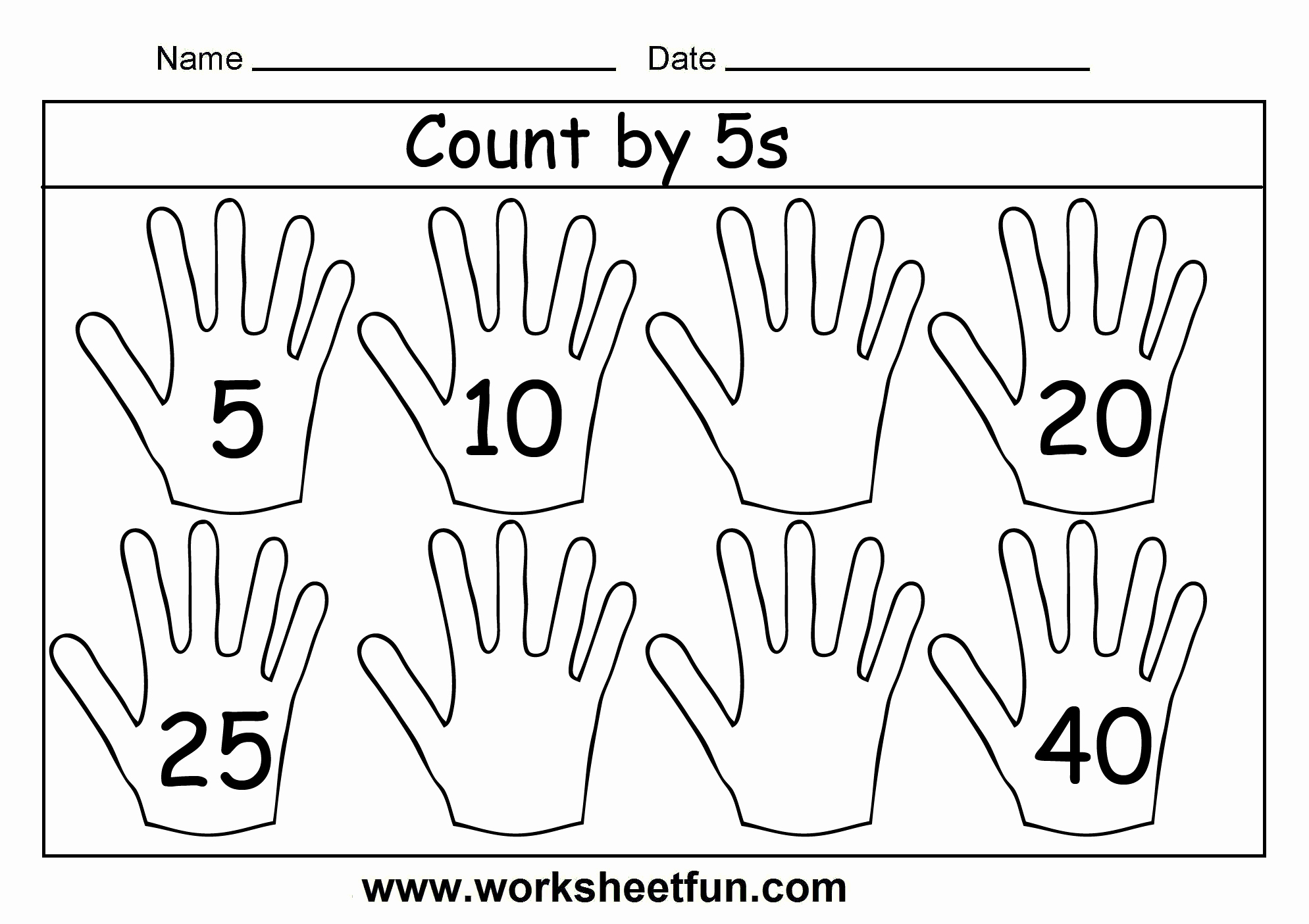 Counting by 5s Worksheet Best Of Count by 5s – 3 Worksheets Free Printable Worksheets