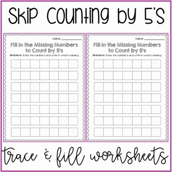 Counting by 5s Worksheet Inspirational Skip Counting by 5s Worksheets Differentiated Scaffolded