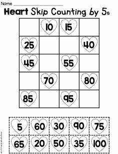 Counting by 5s Worksheet New Counting and Cardinality Freebies