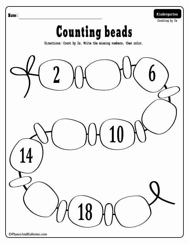 Counting by 5s Worksheet New Skip Counting Worksheets 02 Planes & Balloons