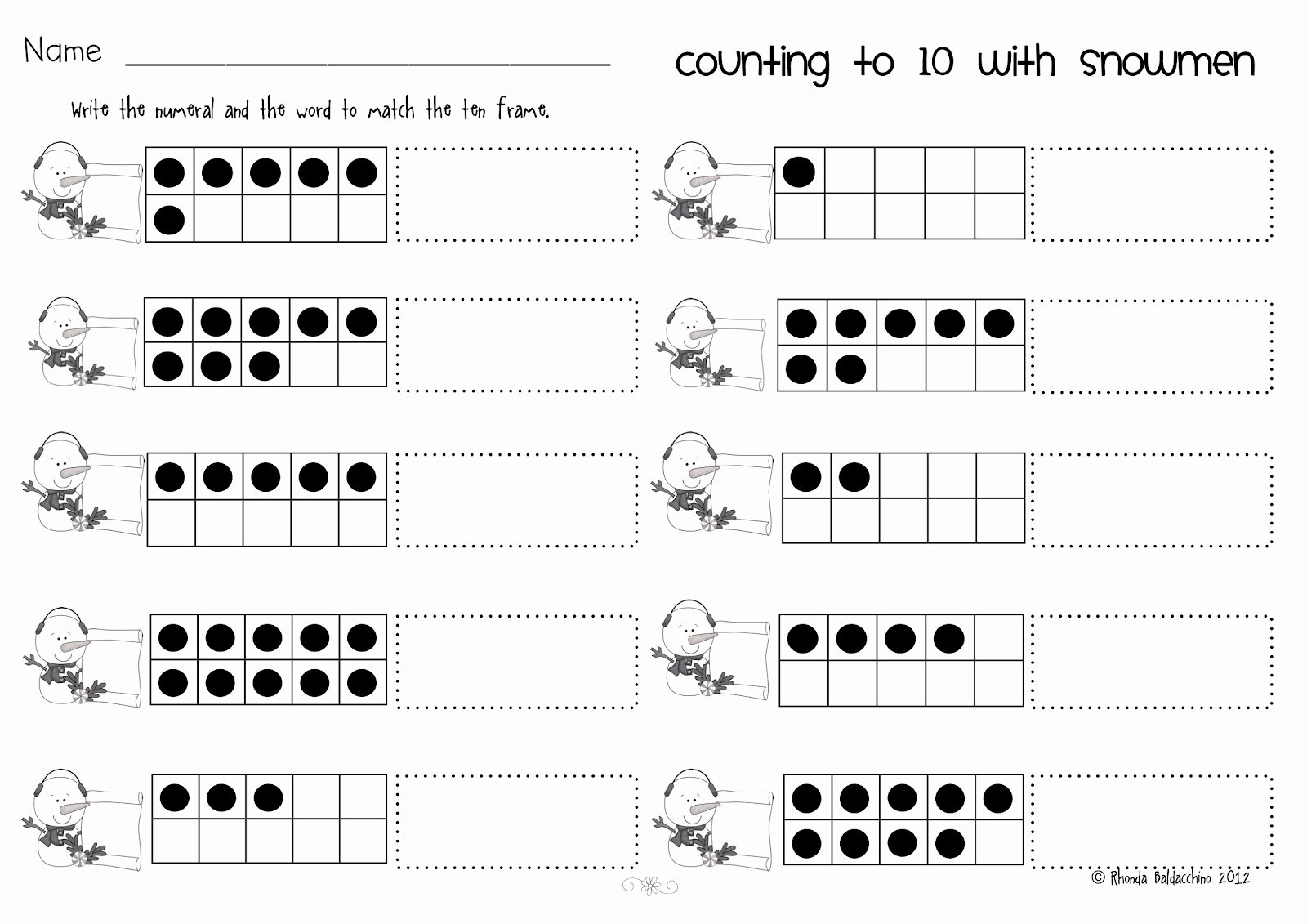 Counting In 10s Worksheet Elegant Classroom Fun Counting to Ten Freebie