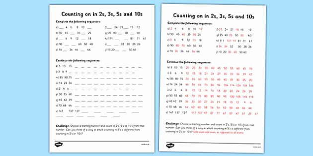 Counting In 10s Worksheet Luxury Counting In 2s 3s 5s and 10s Worksheet Counting Worksheet
