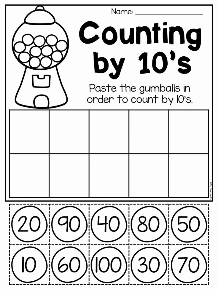 Counting In 10s Worksheet New Best Kindergarten Math Images On Pinterest
