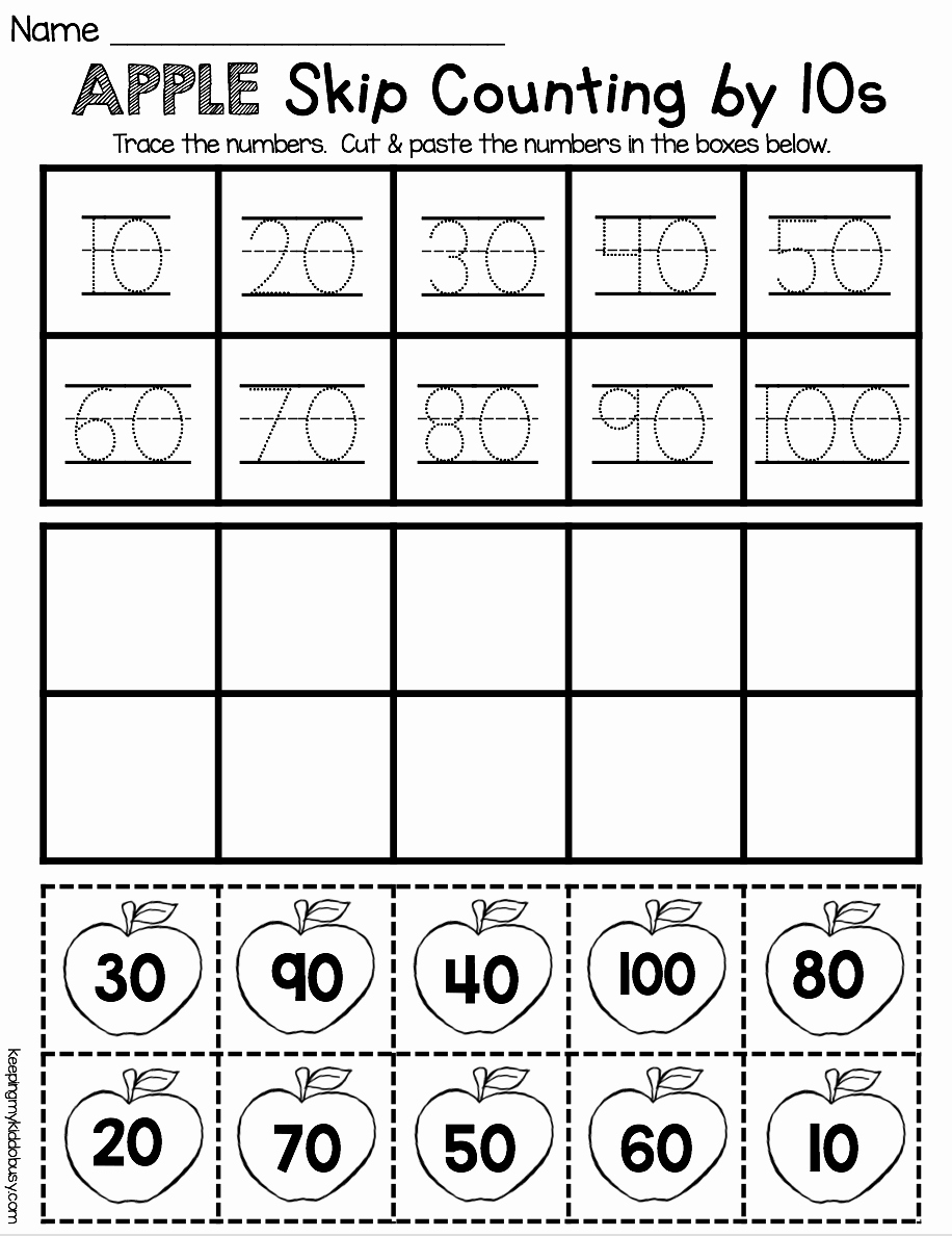 Counting In 10s Worksheet New Counting and Cardinality Freebies