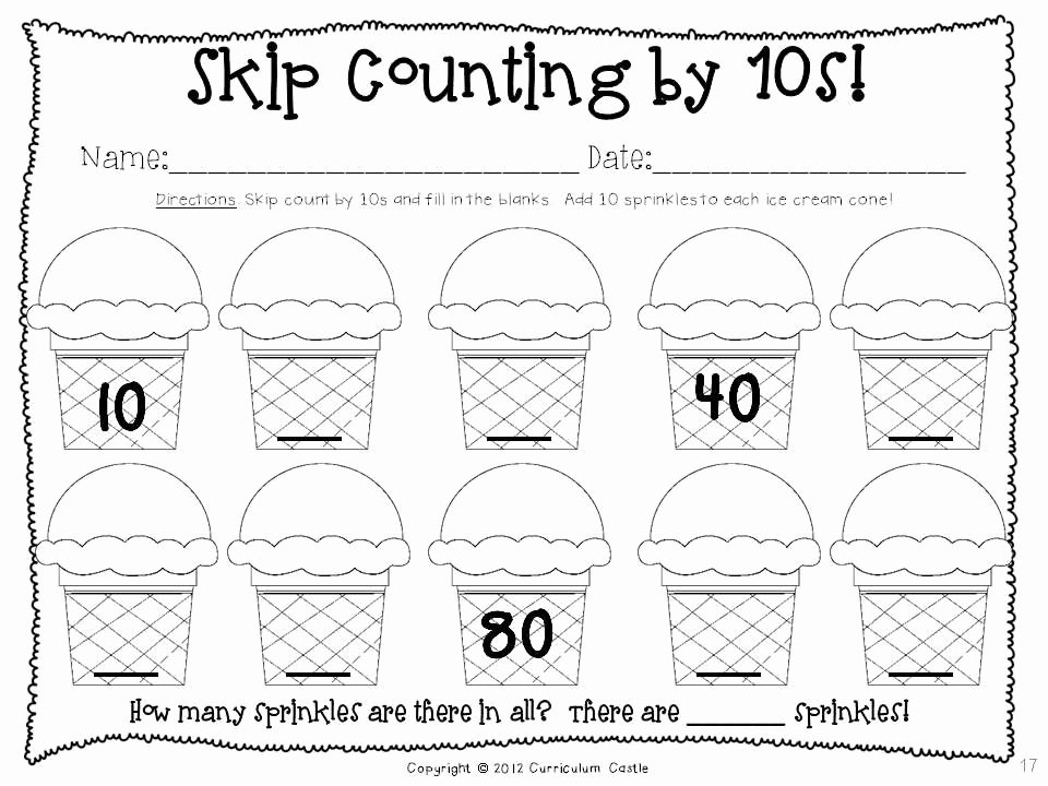 Counting In 10s Worksheet Unique 100th Day Of School thematic Unit