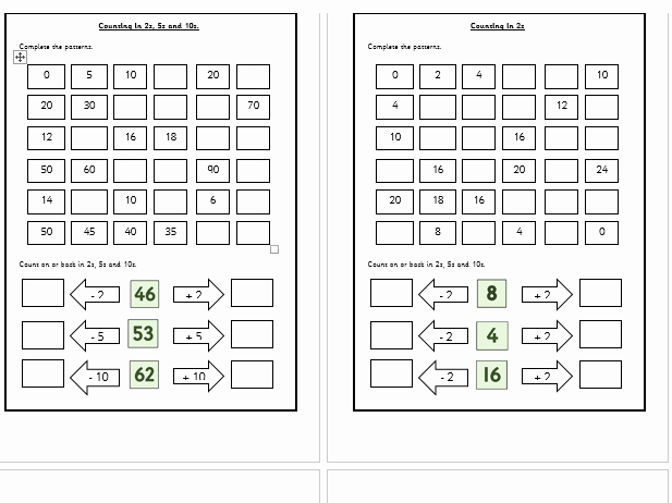 Counting In 5s Worksheet Awesome Year 2 Count In 2s 5s 10s 2 5 10 by Takeaway