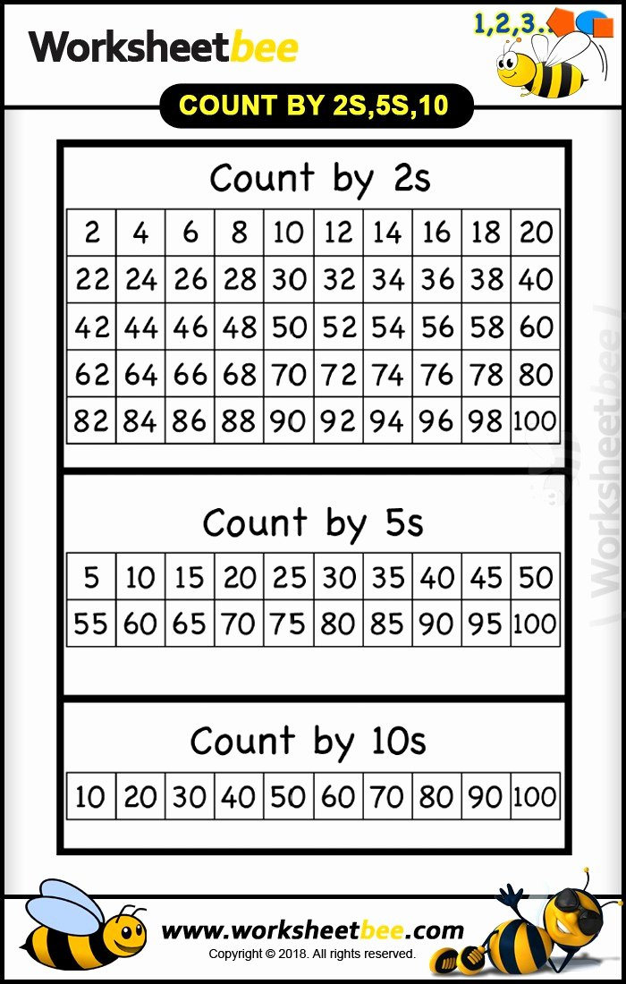 Counting In 5s Worksheet Beautiful Count by 2s 5s 10s Long Worksheet for Bet Practice