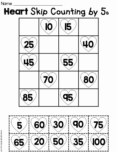 Counting In 5s Worksheet Beautiful Free Printable Math Worksheet Counting by Fives Cut Paste