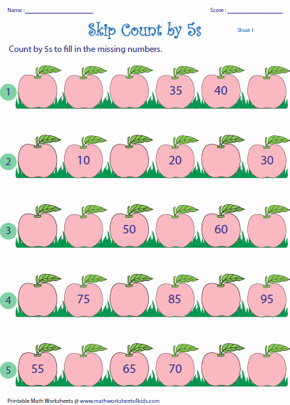 Counting In 5s Worksheet Best Of Skip Counting by 5s Worksheets