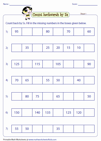Counting In 5s Worksheet Elegant Skip Counting by 5s Worksheets