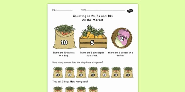 Counting In 5s Worksheet Lovely Counting In 2s 5s and 10s Multiplication Worksheet Worksheet