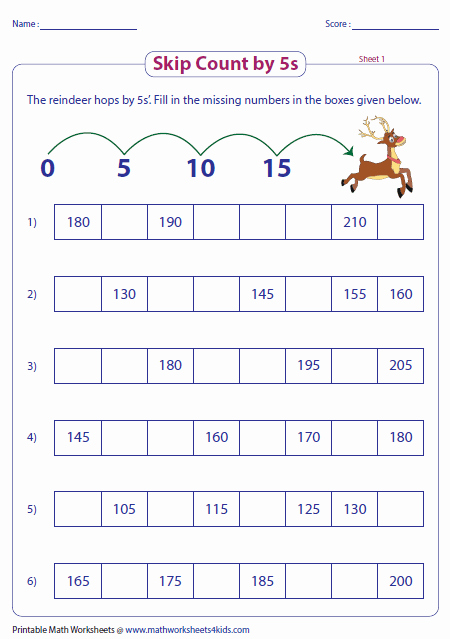 Counting In 5s Worksheet Lovely Skip Counting by 5s Worksheets