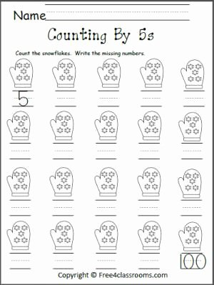 Counting In 5s Worksheet Unique Free Count by 5s Snowflakes Worksheet