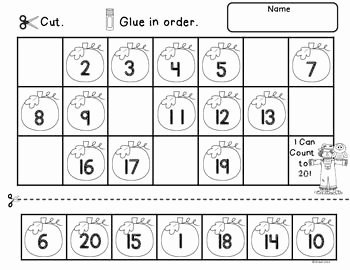 Counting to 20 Worksheet Elegant Numbers 1 20 Fall School Stuff
