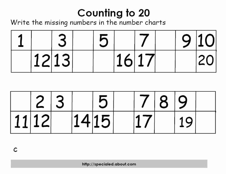 Counting to 20 Worksheet Inspirational Math Activities for Counting to Twenty