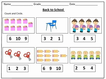 Counting to 20 Worksheet New Back to School Counting Worksheets 1 20 by Kids