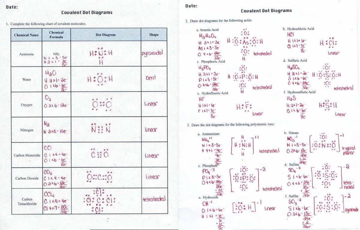 Covalent Bonding Worksheet Answer Key Lovely Covalent Bonding Worksheet Answers Funresearcher