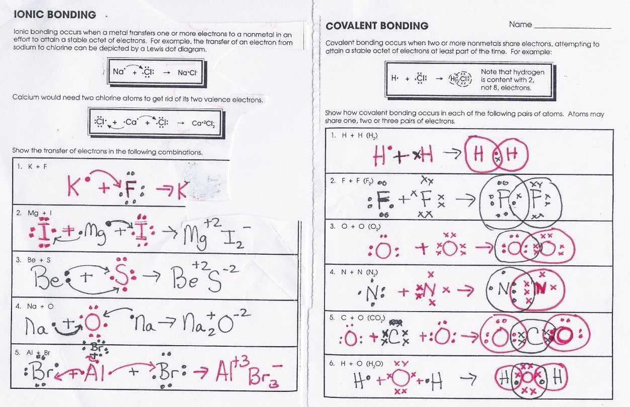 Covalent Bonding Worksheet Answer Key Unique Covalent Bonding Worksheet Answers Funresearcher