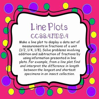 Create A Line Plot Worksheet Unique Line Plots Create & Interpret Task Cards and No Prep
