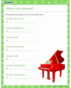 Critical Thinking Skills Worksheet Awesome What S Your Question Download Critical Thinking