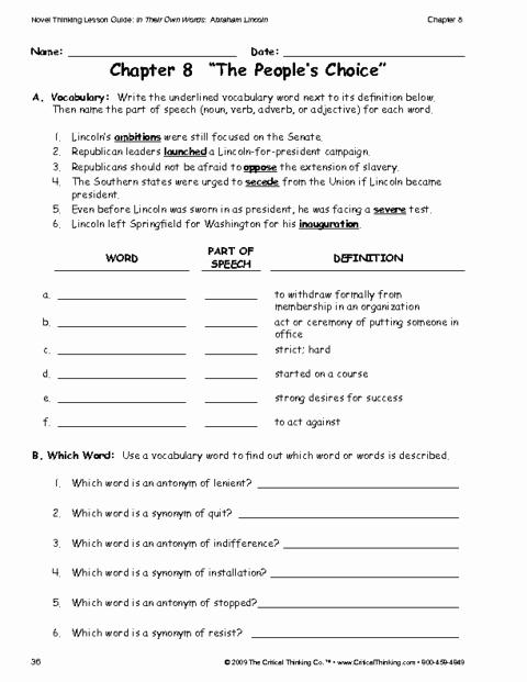 Critical Thinking Skills Worksheet Best Of Critical Thinking Worksheet Grades 6 8 Vocabulary