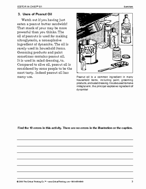 Critical Thinking Skills Worksheet Fresh Critical Thinking Worksheet Grades 6 8 Editor In Chief