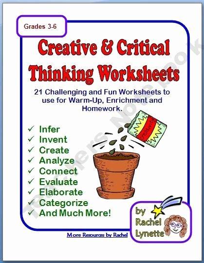 Critical Thinking Skills Worksheet Inspirational Pinterest • the World's Catalog Of Ideas