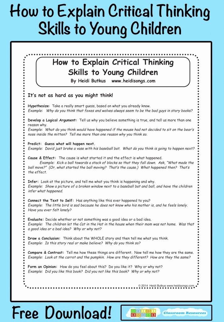 Critical Thinking Skills Worksheet Luxury Best 25 Critical Thinking Skills Ideas On Pinterest