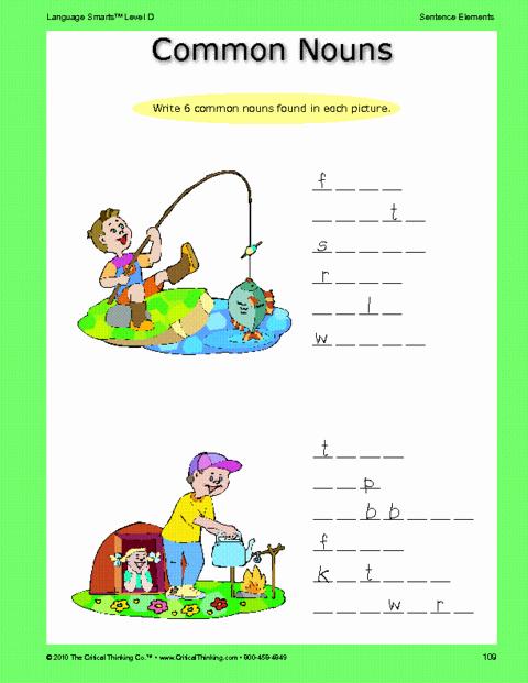 Critical Thinking Skills Worksheet Luxury Critical Thinking Worksheet Grades 3 5 Nouns